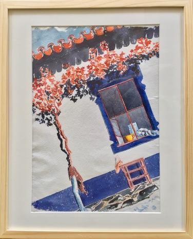 Le Monte à midi. Crayon aquarelle et aquarelle sur carnet Khadi