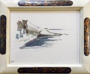 Lumière de Méditerranée, Sant'Angelo. Aquarelle sur papier coton Sennelier. 2018